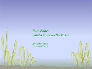 Parc Éolien Saint-Luc-de-Bellechasse