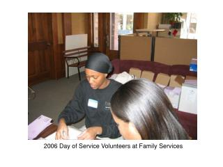 2006 Day of Service Volunteers at Family Services