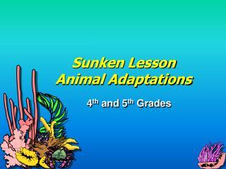 Sunken Lesson Animal Adaptations