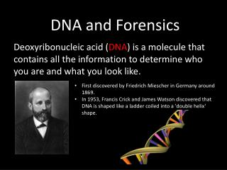 DNA and Forensics