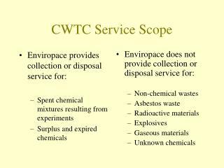 CWTC Service Scope