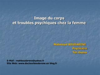 Image du corps  et troubles psychiques chez la femme