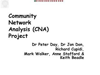 Community  Network  Analysis (CNA) Project