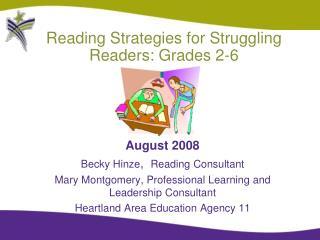 Reading Strategies for Struggling Readers: Grades 2-6