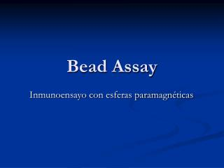 Bead Assay