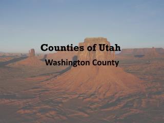 Counties of Utah