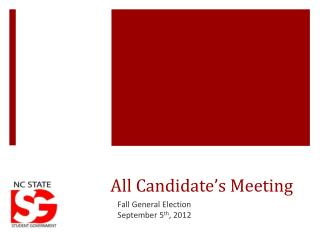 All Candidate's Meeting