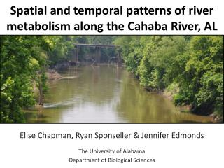 Spatial and temporal patterns of river metabolism along the Cahaba River, AL