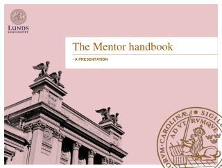 The Mentor  handbook