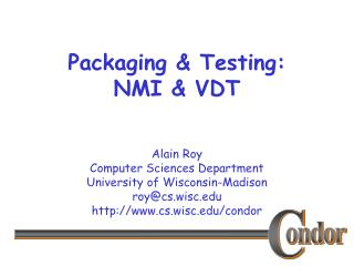 Packaging & Testing: NMI & VDT