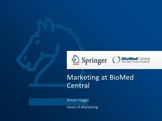 Marketing at BioMed Central