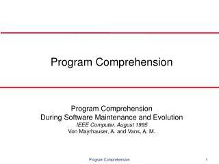 Program Comprehension
