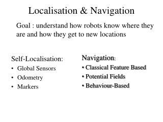 Localisation & Navigation