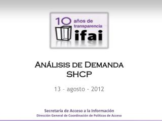 Análisis de  Demanda SHCP