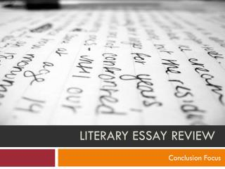 Literary Essay REVIEW