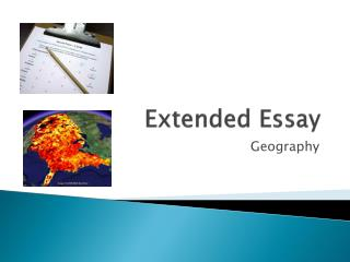 extended essay geography