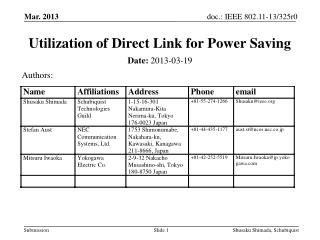 Utilization of Direct Link for Power Saving