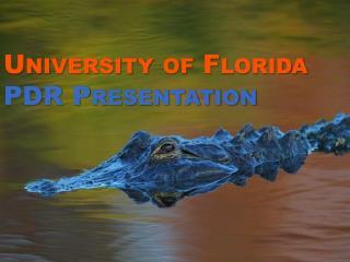 University of Florida  PDR Presentation