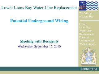 Potential Underground Wiring