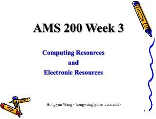 AMS 200 Week 3