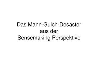 Das Mann-Gulch-Desaster  aus der  Sensemaking Perspektive