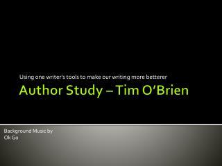 Author Study – Tim O'Brien