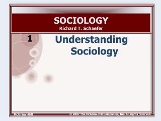 SOCIOLOGY Richard T. Schaefer