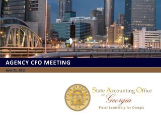 Agency CFO MEETING