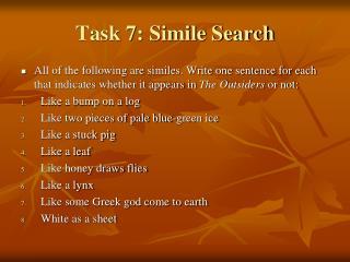 Task 7: Simile Search