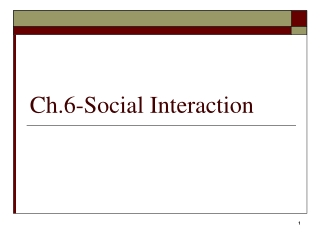 Social Interaction, Groups, and Social Structure