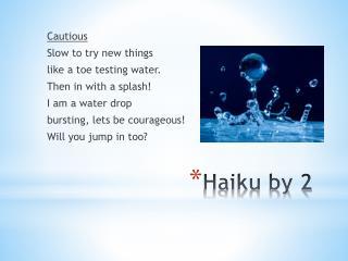 Haiku by 2