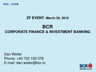 BCR – CF&IB