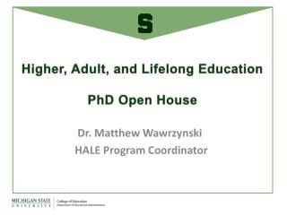 Higher, Adult, and Lifelong Education PhD Open House