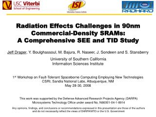 Radiation Effects Challenges in 90nm Commercial-Density SRAMs:  A Comprehensive SEE and TID Study
