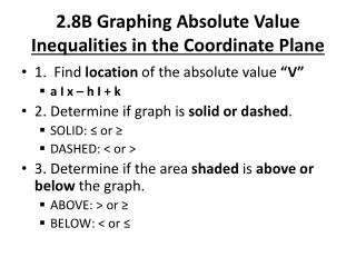 2.8B Graphing Absolute Value  Inequalities in the Coordinate Plane