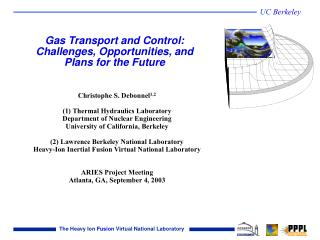 Gas Transport and Control: Challenges, Opportunities, and Plans for the Future
