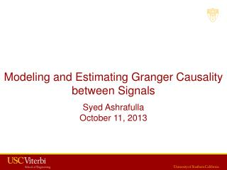 Modeling and Estimating Granger Causality between Signals
