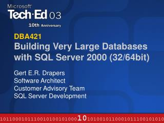 DBA421 Building Very Large Databases with SQL Server 2000 32