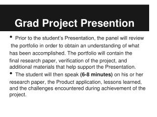 Grad Project  Presention