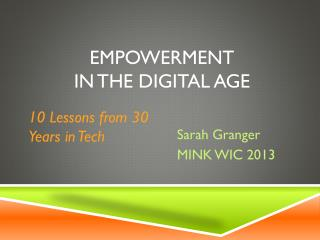 Empowerment in the digital age