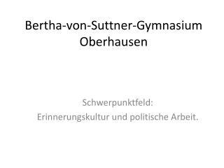 Bertha-von-Suttner-Gymnasium Oberhausen