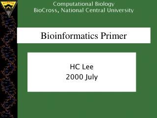 Bioinformatics Primer