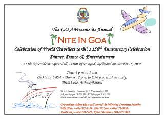 The G.O.A Presents its Annual Nite  In Goa