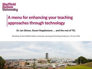 A menu for enhancing your teaching approaches through technology