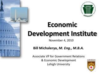 Economic  Development Institute