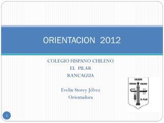 ORIENTACION  2012