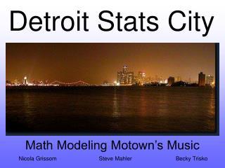 Statistics Presentation on Detroit Music