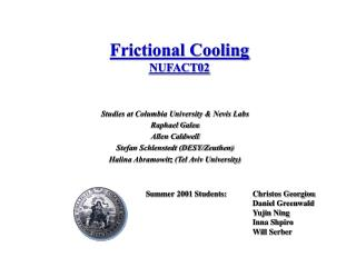 Frictional Cooling NUFACT02