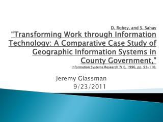 Jeremy Glassman 9/23/2011