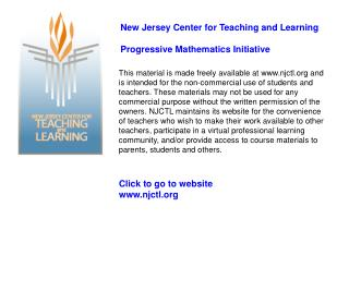Click to go to website  njctl